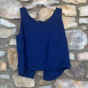 Forever 21 blue tank top, bows, 2X
